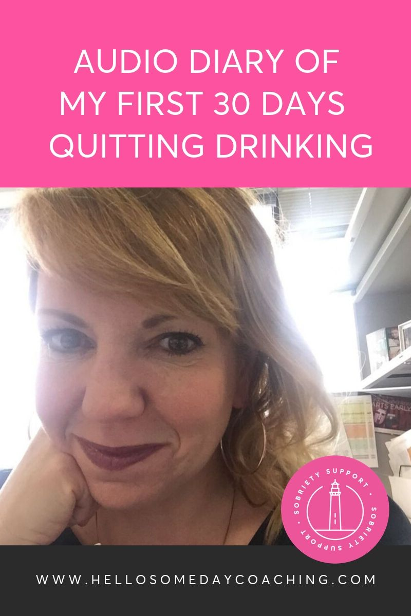 My Diary of Quitting Drinking, from Day 1 to Day 30, through emails to my Sober Coach.