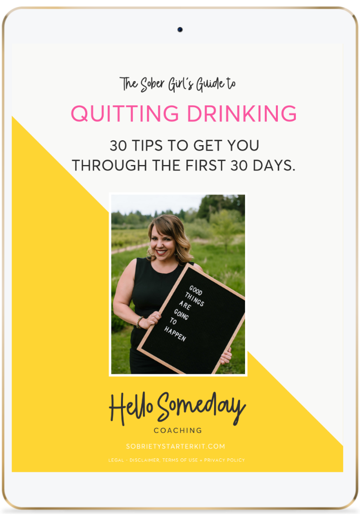 The Free Sober Girl's Guide To Quitting Drinking. 30 Tips For Your First 30 Days Alcohol Free.