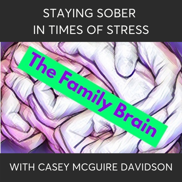 Staying Sober In Times Of Stress on The Family Brain Podcast with Casey McGuire Davidson of The Hello Someday Podcast