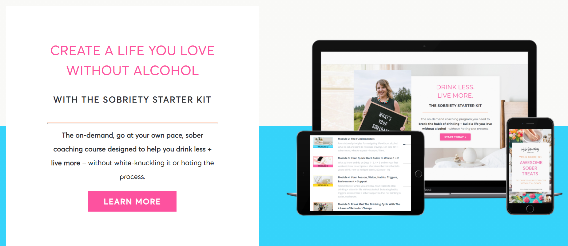 Escape the mom wine culture and stop drinking with The Sobriety Starter Kit course